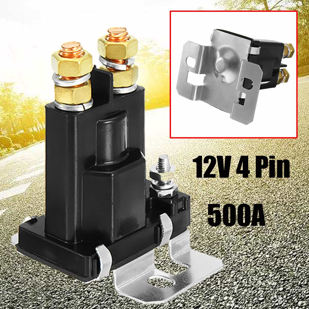 цена на New High Current 500A Amp Relay DC 12V 24V 4 Pin Continues Working Auto Power Switch On/Off Control For Car Motors Drives