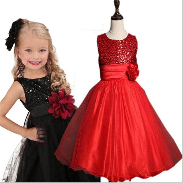 fb1ce4c3e48d8 صيف 2017 يتوهم بنات الأميرة حزب فساتين الاطفال فستان زفاف العروس زهرة  الملابس الركبة الأطفال الأحمر