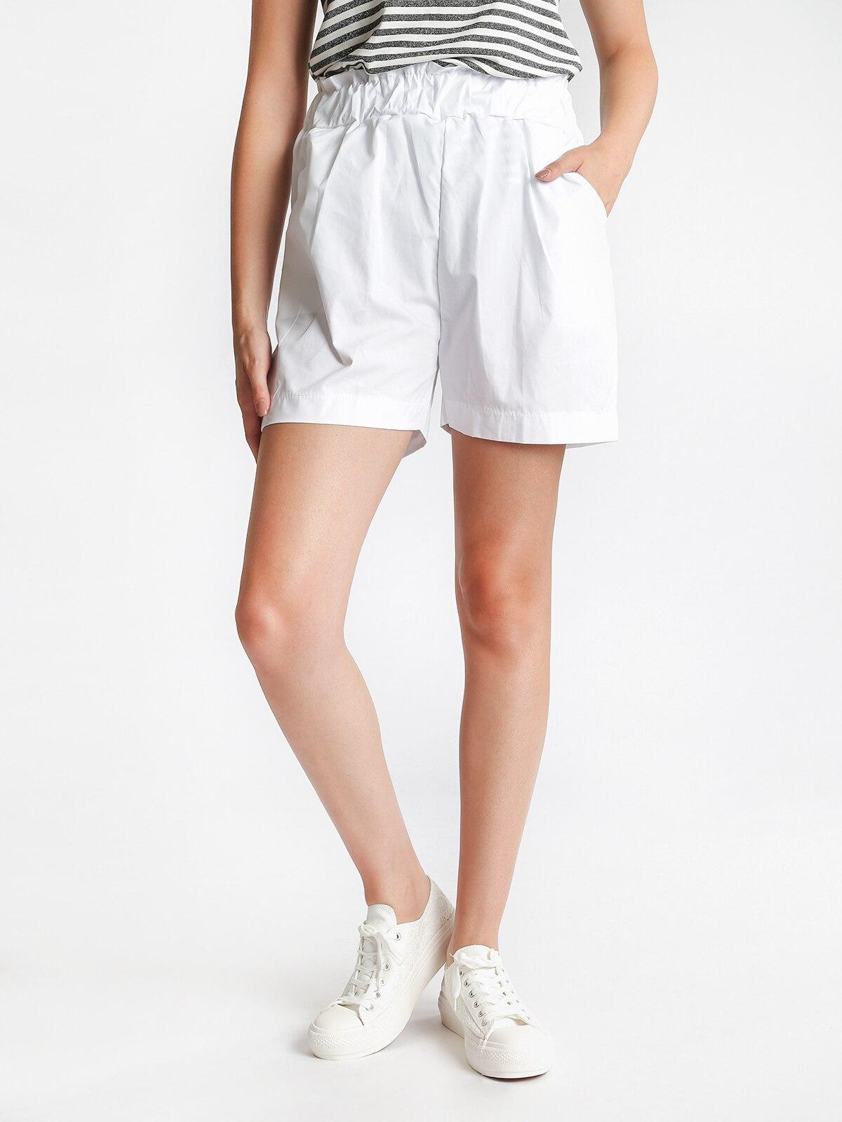 High Waist Shorts Cotton