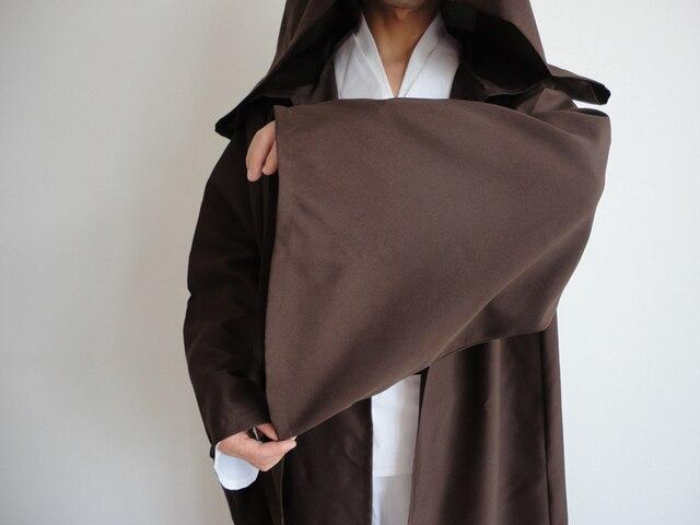Star Wars Robe Adult Hooded Robe Jedi Kinight Cosplay Black/Brown Cloak Cape Anakin Skywalker Obi- Wan 6 size 1