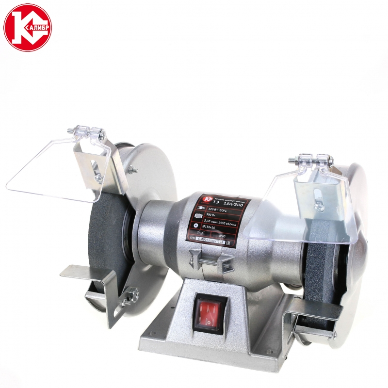 Electric bench grinder Kalibr TE-150/300 kalibr te 125 250l bench multi function electric grinder bench polishing machine small grinding wheel wiht lamp