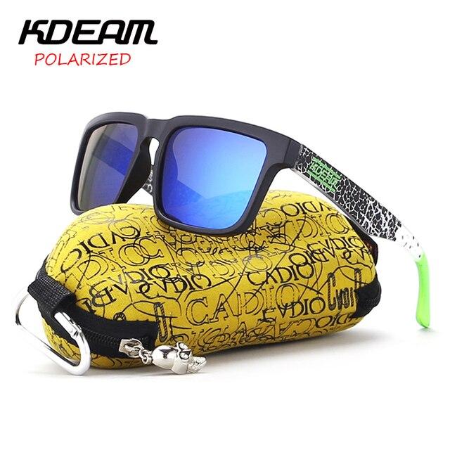KDEAM Praça Esporte Óculos De Sol Dos Homens Polarizados oculos de sol  masculino HD lente Verde 1413e107e8