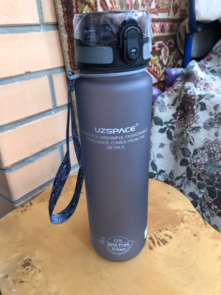 UZSPACE 0%BPA Plastic Sports Water Bottle Protein Shaker Portable Tour Outdoor Camp Tea Fruit My Drink Bottle 500/650/1000ml-in Water Bottles from Home & Garden on AliExpress