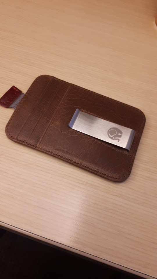 Mannen geld clips vintage lederen voorvak klem voor geldhouder verwijderbare geld clip portemonnee met kaart ID Case photo review