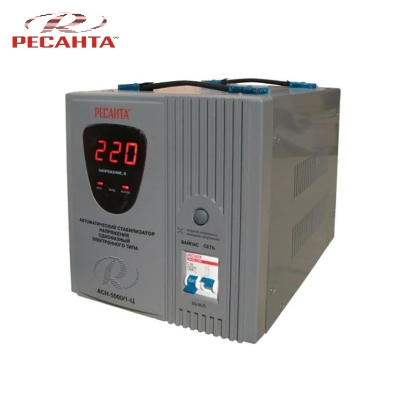 Single phase voltage stabilizer RESANTA ASN-5000/1-C Relay type Voltage regulator Monophase Mains stabilizer Surge protect svr 1kva single phase high accuracy full automatic ac relay type voltage stabilizer