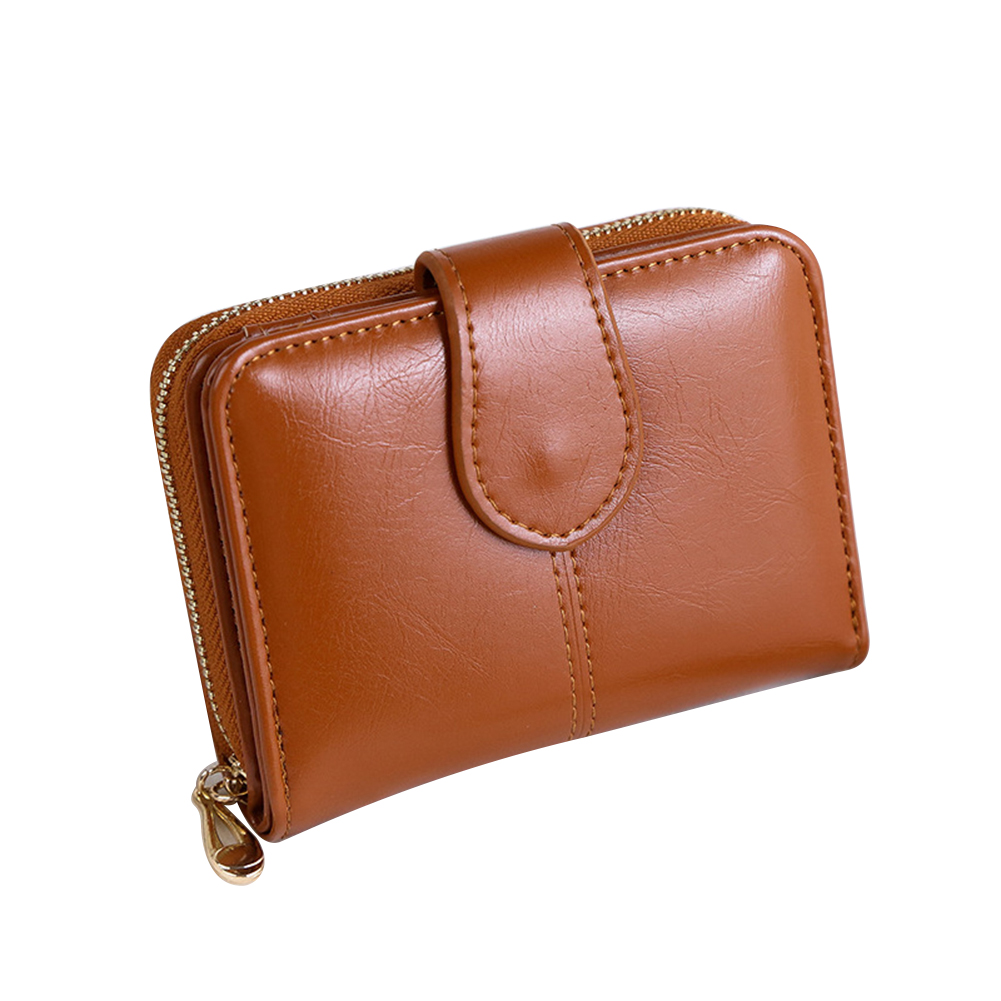 Vintage Faux Leather Women Wallet Small Card Holder Short Purse Christmas Gift