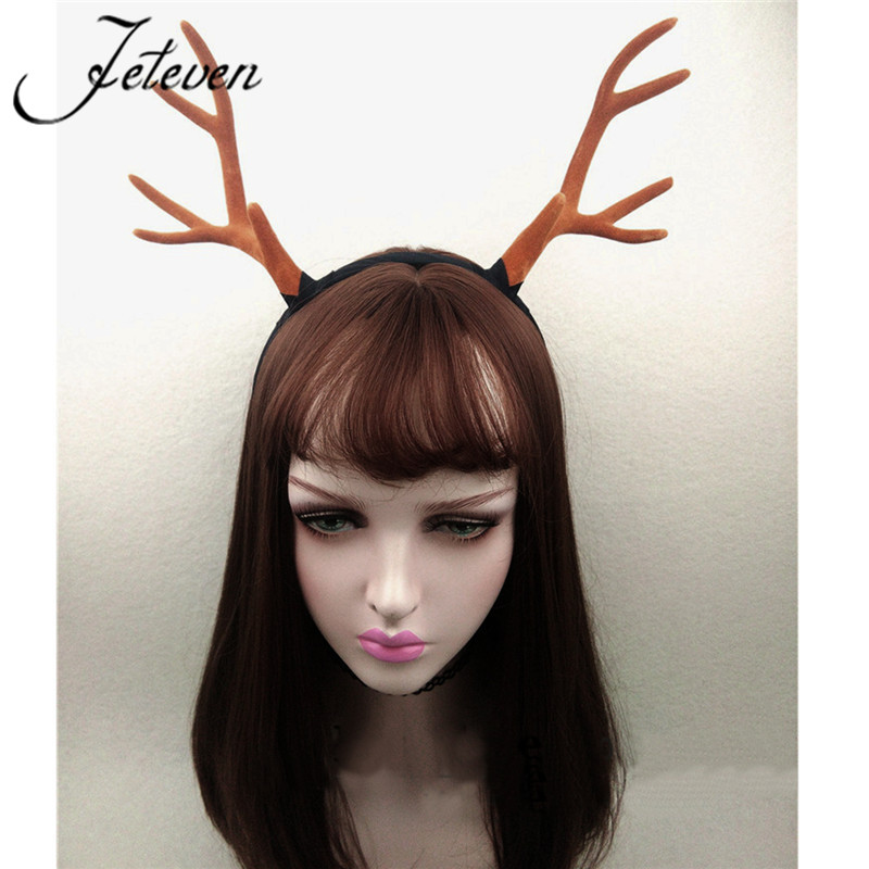 aliexpresscom buy large antlers deer horns hairband headband goth steampunk headdress halloween cosplay hair jewelry accessories from reliable hair