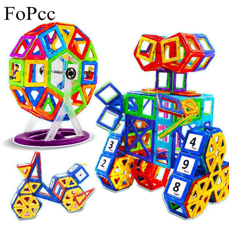 [FoPcc] 64 Pcs Mini Magnetic Blocks Children Models Building Toy Designer Construction Educational Toys Enlighten Kids Gift magnetic toy 77pcs mini magnetic models