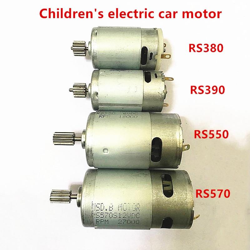 Children electric Remote Control car motor engine 12V dc, kid's electric motorcycle 6V dc electric motor,570 550 380 390 engine(China)