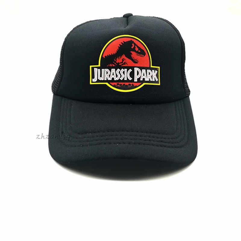 5dc25e9550f Jurassic Park Dinosaur Trucker Caps Adjustable Jurassic Park Women Cool  Summer Cool Mesh Baseball Caps Hats