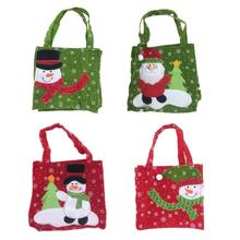 Creative Santa Claus Gift Bags Merry Christmas Candy Bags Decor Christmas Gift Bags Snowman New Year Present Supplies Home Party