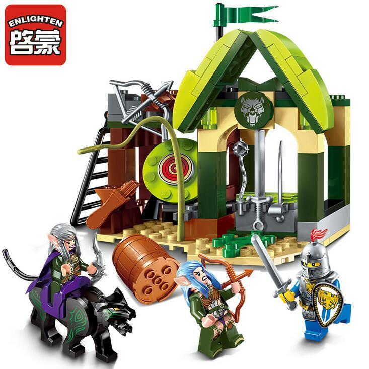 Enlighten 2017 NEW 2301 Building Block War of Glory Castle Knights Elfin Range 3 Figures 112pcs Educational Bricks Toy Boy Gift enlighten new 2315 656pcs war of glory castle knights the sliver hawk castle 6 figures building block brick toys for children
