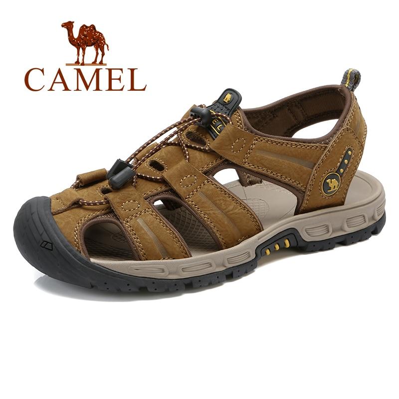 Ayakk.'ten Erkek Sandaletleri'de DEVE erkek ayakkabıları Hakiki Deri Sandalet Erkekler Doğal Inek Derisi Deri rahat ayakkabılar Plaj Açık kaymaz Sarılmış Ayak Sandal'da  Grup 1
