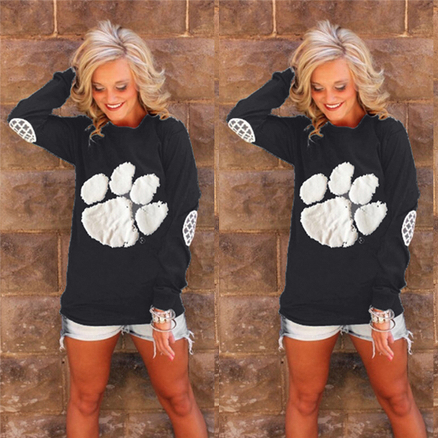 Bear Paw Print Women's Sweatshirt