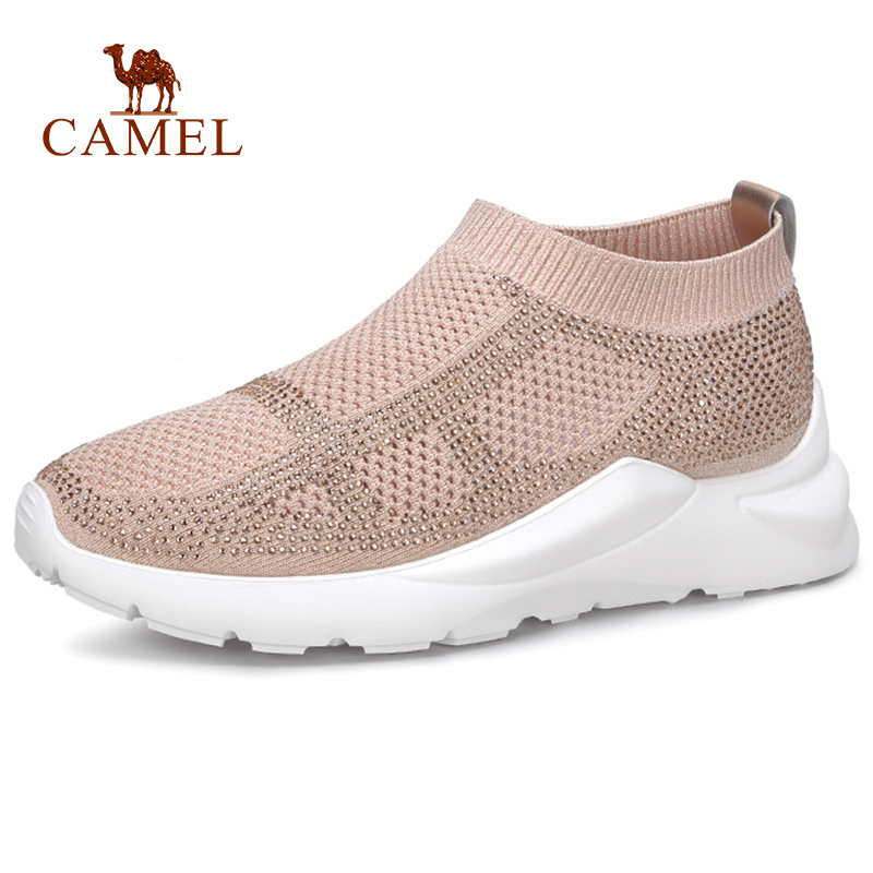 CAMEL New Student Casual Fashion Mesh Comfort Shoes Women Retro Beathable Med Platform Single Shoes For