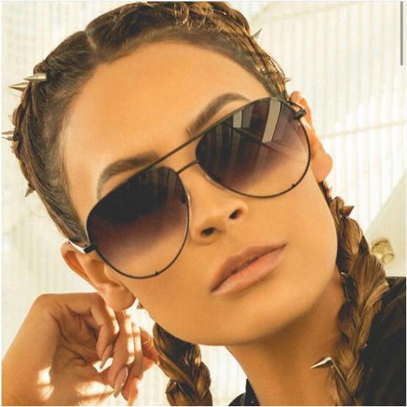New black sunglasses women's brand designer fashion ladies sun glasses for women pilot 2018 luxury shades lunettes femme UV400 3
