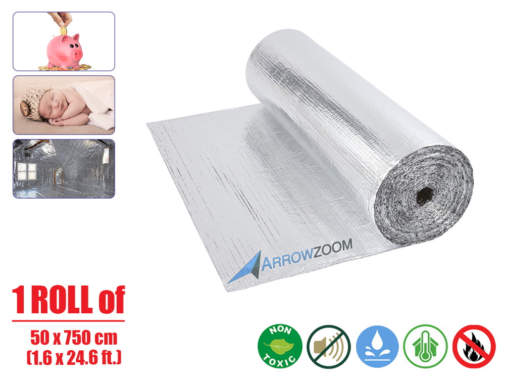metal shed insulation 1 roll 8.4m long Single  Foil Bubble Insulation