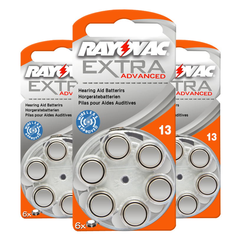 60pcs Rayovac Extra High Performance Hearing Aid Batteries. Zinc Air 13/P13/PR48 Battery for Ear care CIC Siemens Hearing aids