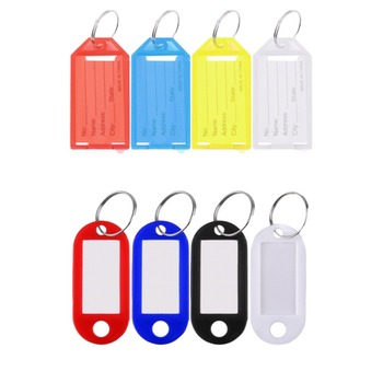 1 Pc Plastic Cool Key Ring Tags Key Ring ID Identity Tags Rack Name Card Label Shop Price image