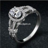 Hot Sale Fashion Luxury Women Engagement Jewelry 925 Sterling Silver 5A ZC Crystal Zircon Female