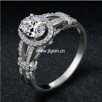 Hot Sale Fashion Luxury Women Engagement Jewelry 925 Sterling Silver 5A ZC Crystal Zircon Female