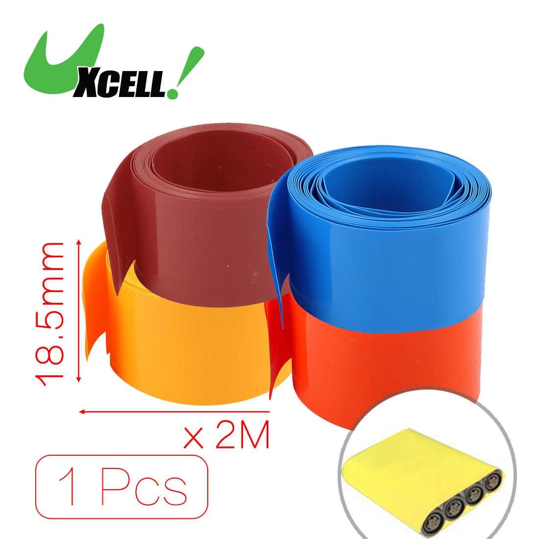 Uxcell 18.5Mm Diameter 2M Length Pvc Heat Shrink Tube Tubing Battery Wrap Clear .bluecleargreenorangeredwhite