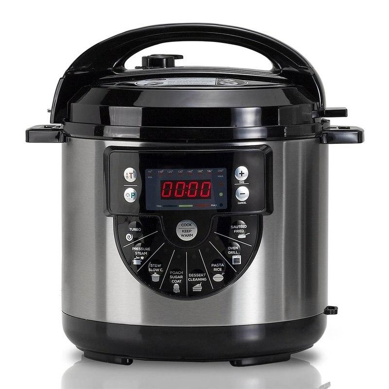 Pot Programmable 1000 W avec voix, capacité 6 LTr, 15 Menus cuisson et second accessoires pour la friture
