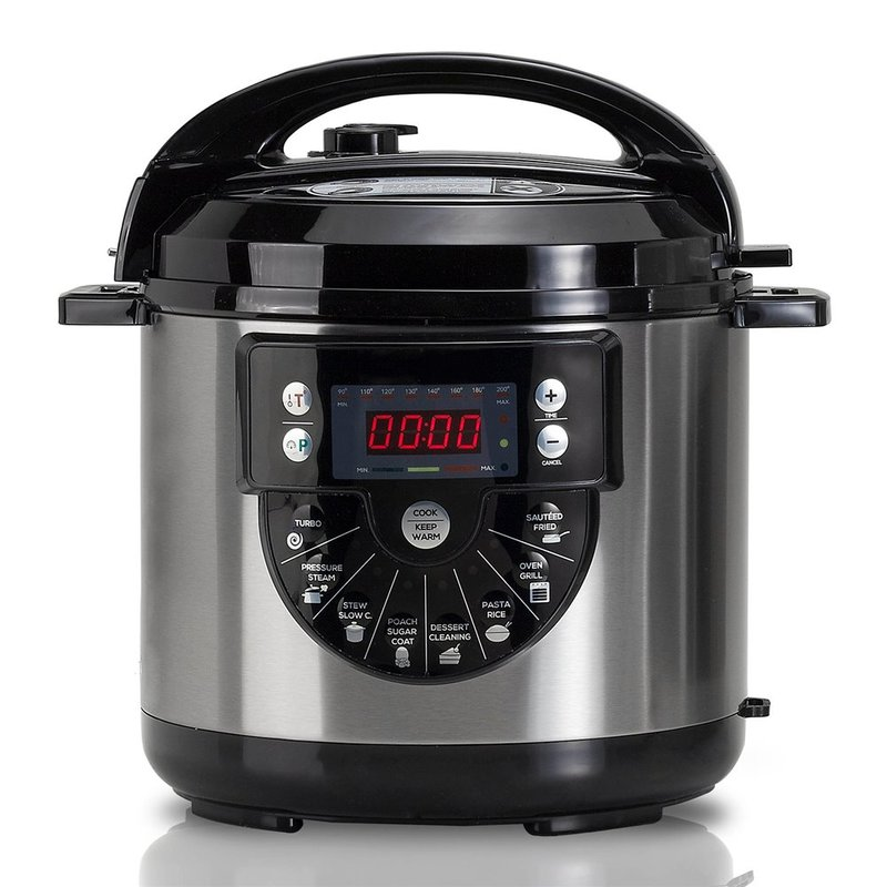 Programmable pot 1000 W with Voice capacity 6 LTr 15 Menus cooking and second accessories for