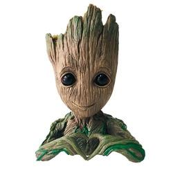 Funtoyworld Creative Groot Planter Pot Baby Groot Flowerpot Tree Man Pen Container Guardians 4 Action Figures Toy Gift