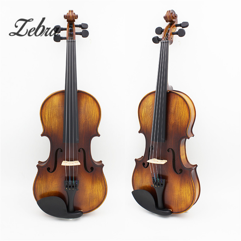 Full Size 4/4 Natural Acoustic Fiddle Violin with Violin Case Cover Bow Parts Set for Musical Stringed Instruments Lovers Gifts full size 4 4 solid basswood electric acoustic violin with violin case bow rosin parts accessories for musical instruments lover