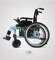 Maidesite Affordable Powered Electric Wheelchair For Sale Electric Steel Wheelchair Quality Medical Equipment Power Folding Port