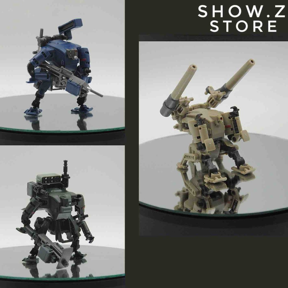 [Show.Z Store] Rihio Multiabyss MM001 V-Link Mecha Striker Logistic Set Green Blue & Desert Set of 3 Action Figure [show z store] neoart toys nt pe 10x kingbat ratbat set of 4 colors red blue pink