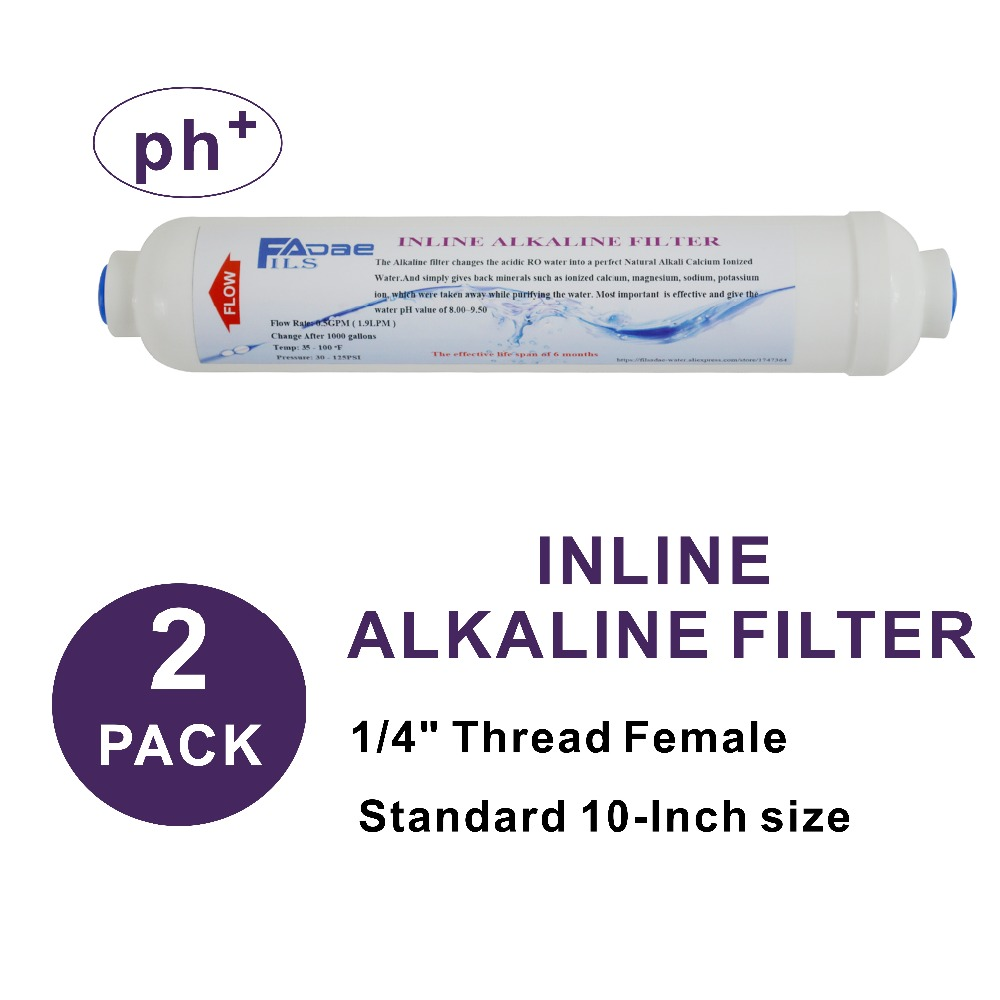 2 Pack of Alkaline Water Filter 2 Dia X 10 Long RO Water Replacement Post Inline