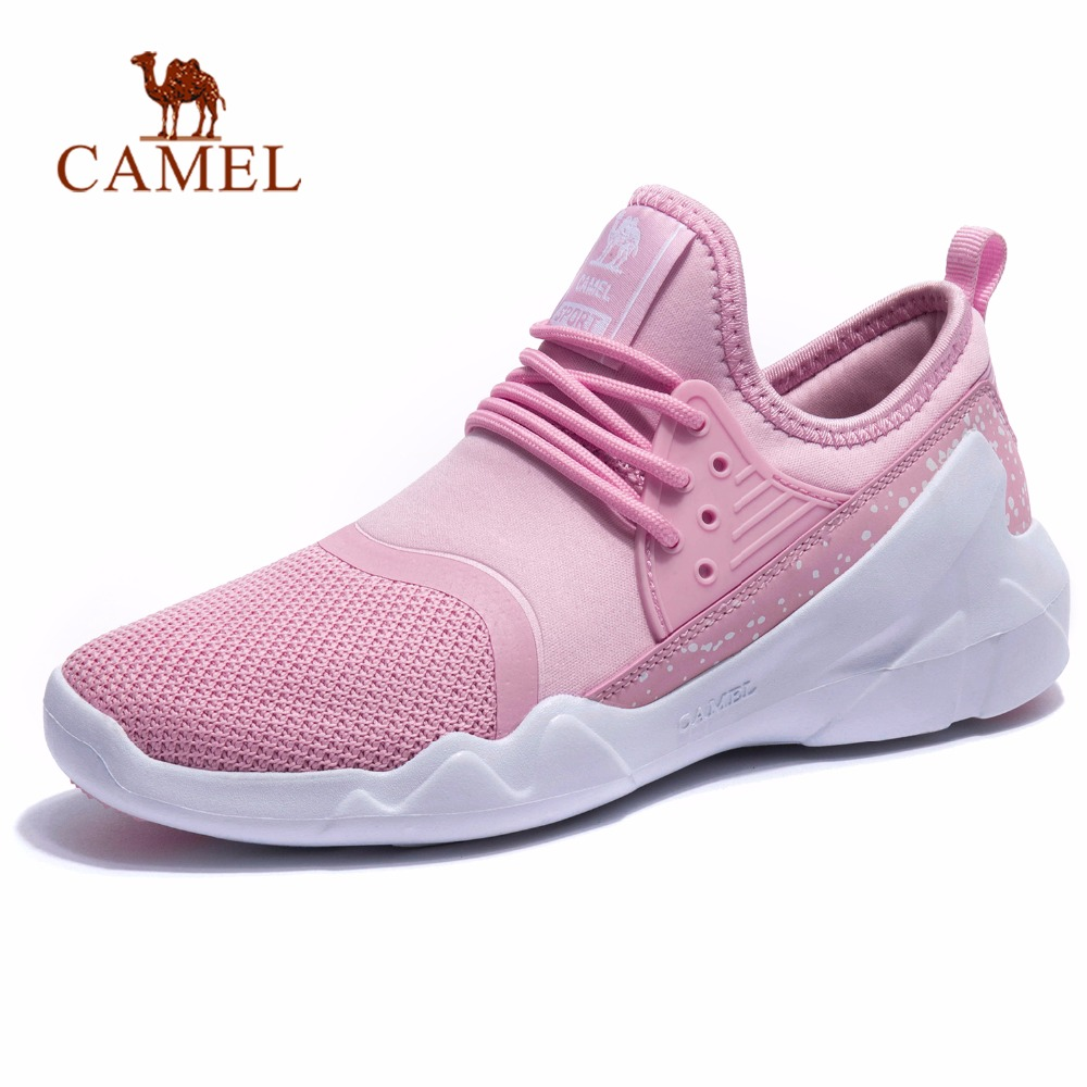 CAMEL Women Running Shoes Spring Summer Comfortable Stability Shockproof Outdoor Sports Sneakers High Increasing