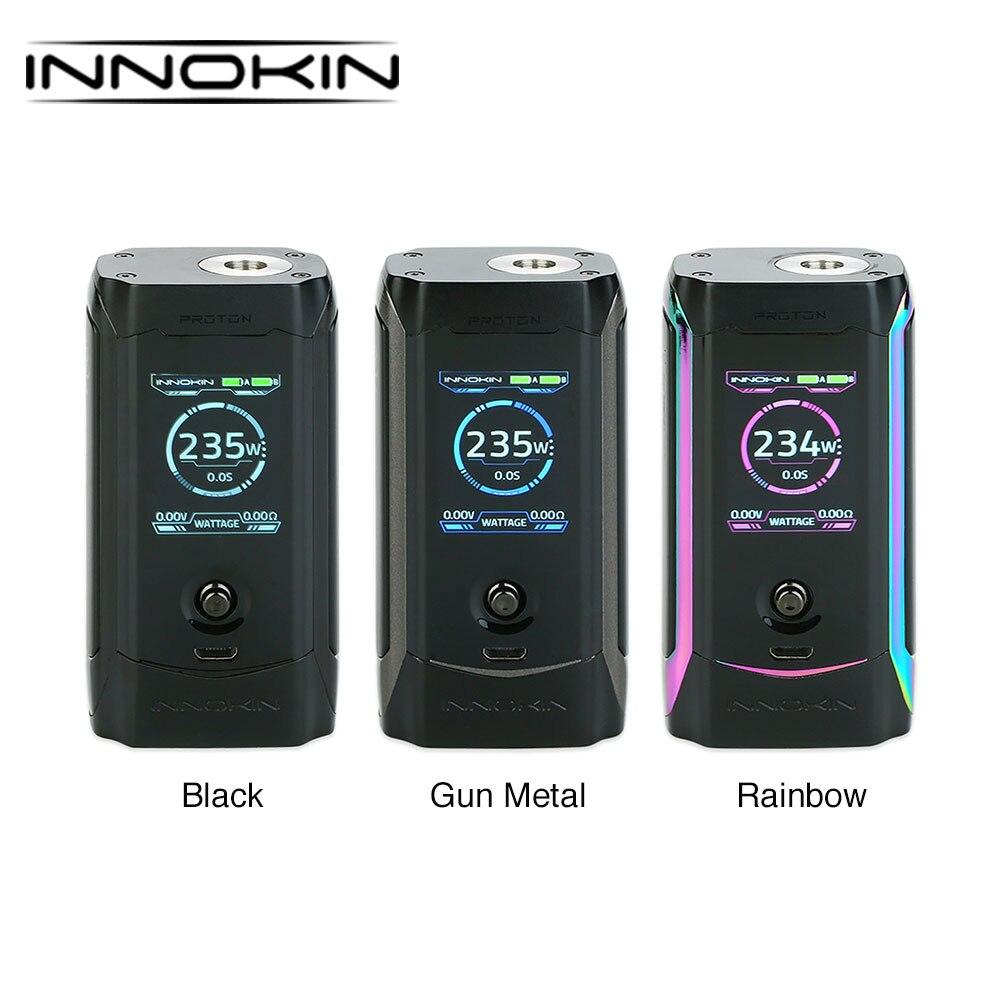 Оригинальный Innokin Протон Express 235 Вт TC поле MOD W дюймов/1,45 дюймов TFT цвет дисплей для большинства 510 нитки форсунок Vs Сайлон Вт 218