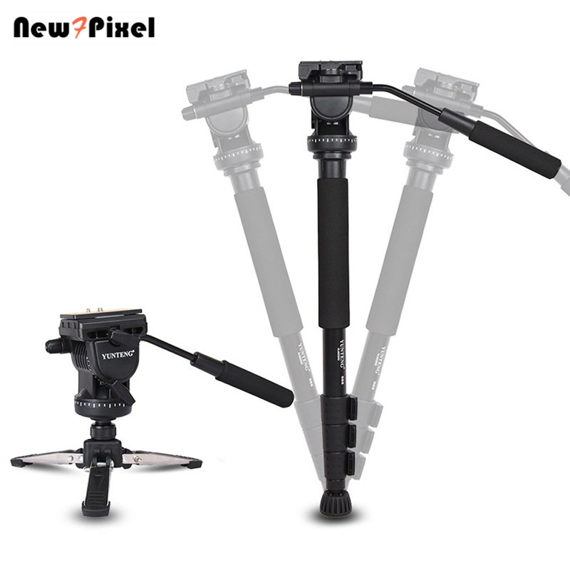 288 Camera Monopod Fluid Pan Head Stand Unipod Base Photography Tripod for DSLR