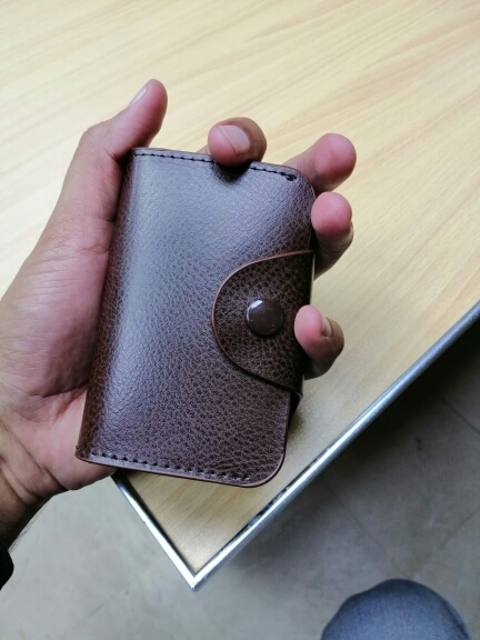 COHEART Genuine Leather Card Wallet for Men and Women Cowhide Business Card Holder Credit Card Purse Top Quality ! photo review
