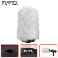 BOYA BY P140 140mm Outdoor Interview Microphone Furry Windshield Muff for Sony Rode NTG 1 NTG 2 VideoMic BY PVM1000 Panasonic