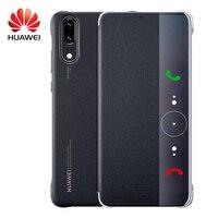 Huawei P20 Pro étui à rabat Original Smart View Huawei P20 étui réveil/sommeil placage miroir fenêtre PU cuir luxe protection 2