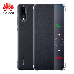 Huawei P20 Pro Flip Case Original Smart View Huawei P20 Case Wake up/Sleep Plating Mirror Window PU Leather Luxury Protective 2