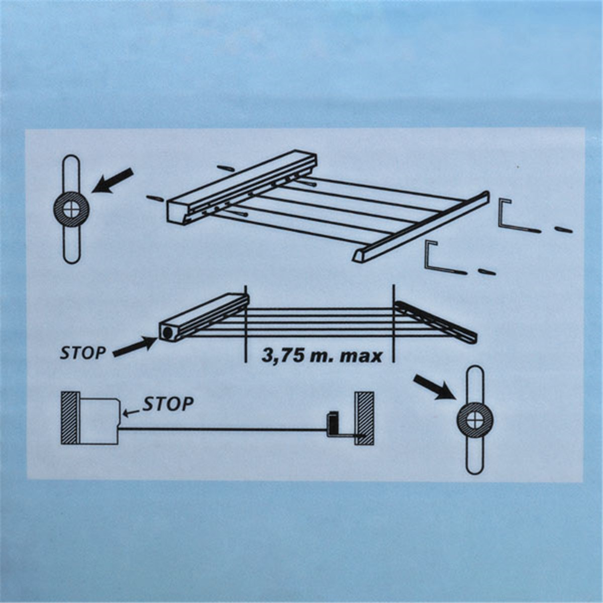 Clothes Drying Rack Line ABS Multi Functional Telescopic Towel ...