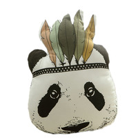 2017 Bebé de Peluche de Juguete Almohada de Dibujos Animados Lindo Decorativo Indio Cojín Panda Animal Cama Sofá Regalo de la Muñeca