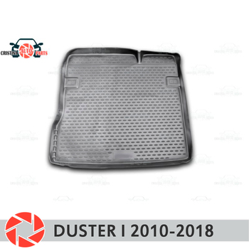 For Renault Duster 2010-2018 trunk mat trunk floor rugs non slip polyurethane dirt protection interior trunk car styling фото