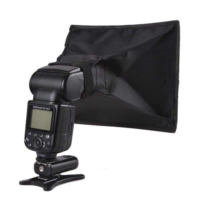 Portable Universal Flash Lamp Softbox Diffuser Speedlight Mini Soft Box Photography For SLR Camera For Canon Nikon Sony