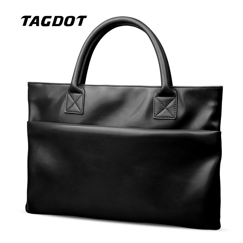 Tagdot Brand soft Pu Leather Laptop bag 13.3 inch For macbook air 13 14 Women and Men notebook sleeve bag 2017