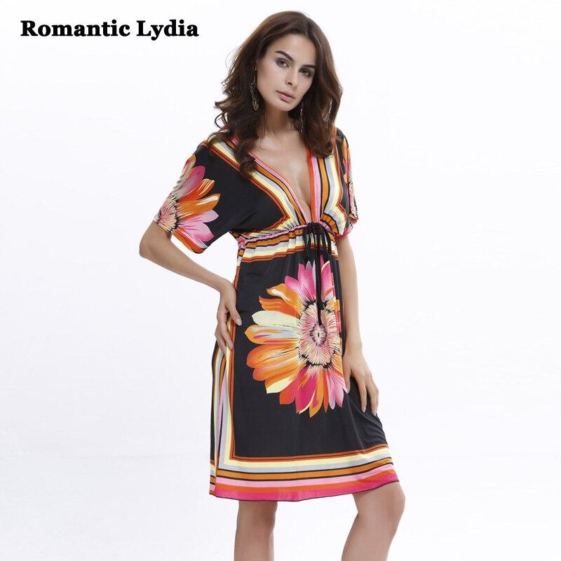 65ddab03e25 Новинка 2018 года для женщин летние пикантные Цветочные Boho Цветочный Принт  миди платье богемный стиль Глубокий