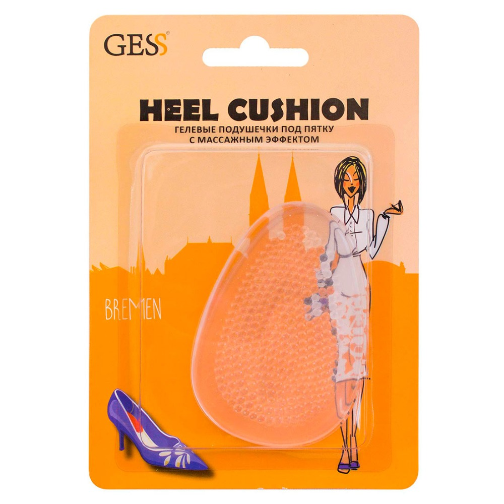 Heel Cushion 1 pair Gel gel insoles pads under the heel with massage effect to relieve fatigue GESS orthopedic insoles correction hallux valgus silicone foot pad thumb toe separator shoe accessories ortopedik silicone heel pads