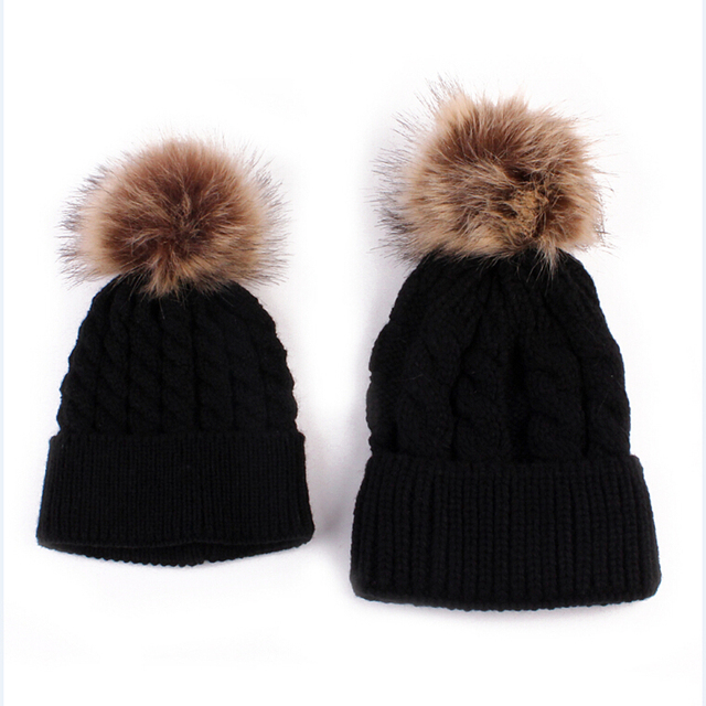 2pcs/set Knit Warm Winter...