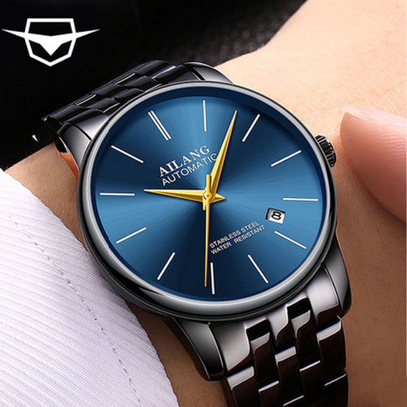 все цены на AILANG luxury automatic mechanical watches, ultra-thin fashion, simple men's watches, sapphire waterproof watches онлайн