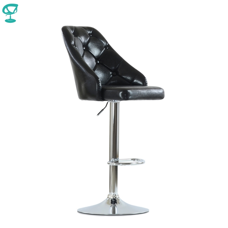 N94CrSPuBlack Barneo N-94 PU Leather Kitchen Breakfast Bar Stool Swivel Bar Chair Black Color Free Shipping In Russia